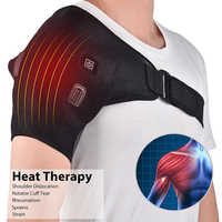 USB Heated Shoulder 3 Level Heating Brace Adjustable Neoprene Single Shoulder Support Hot Cold Therapy Wrap Warm Pad Guard 2019