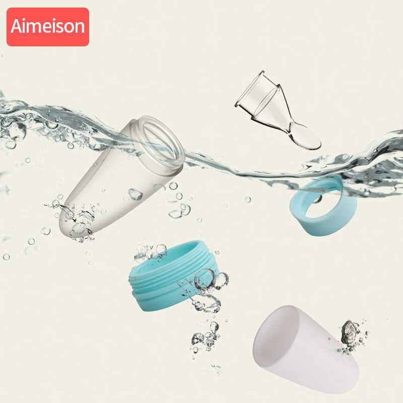 Ameison cuchara de silicona para bebé alimentación de silicona para bebé con cuchara alimentador alimentos arroz botella de Cereal cuchara para bebé