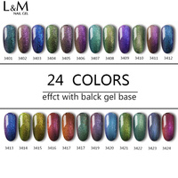 ibdgel 6 pcs Gel Chameleon Color Changing UV LED Gel Polish Varnish Glitter Salon New Gel Nail Polish 15ml