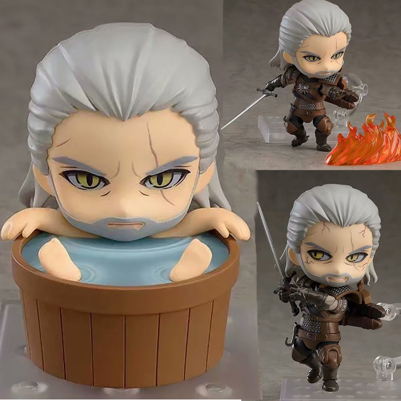 Witcher-ed 3 Wild Hunt 907 Geralt Lobo Blanco Geralt PVC Action Figure Collectable Model Toy