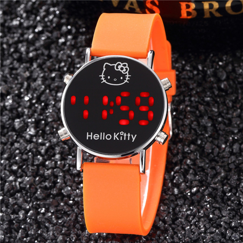 Digital Watch Kids For Girls Gift Smart Watch Kids Silicone Catoon Cat Child Watches LED Display Children Watch Relogio Infantil