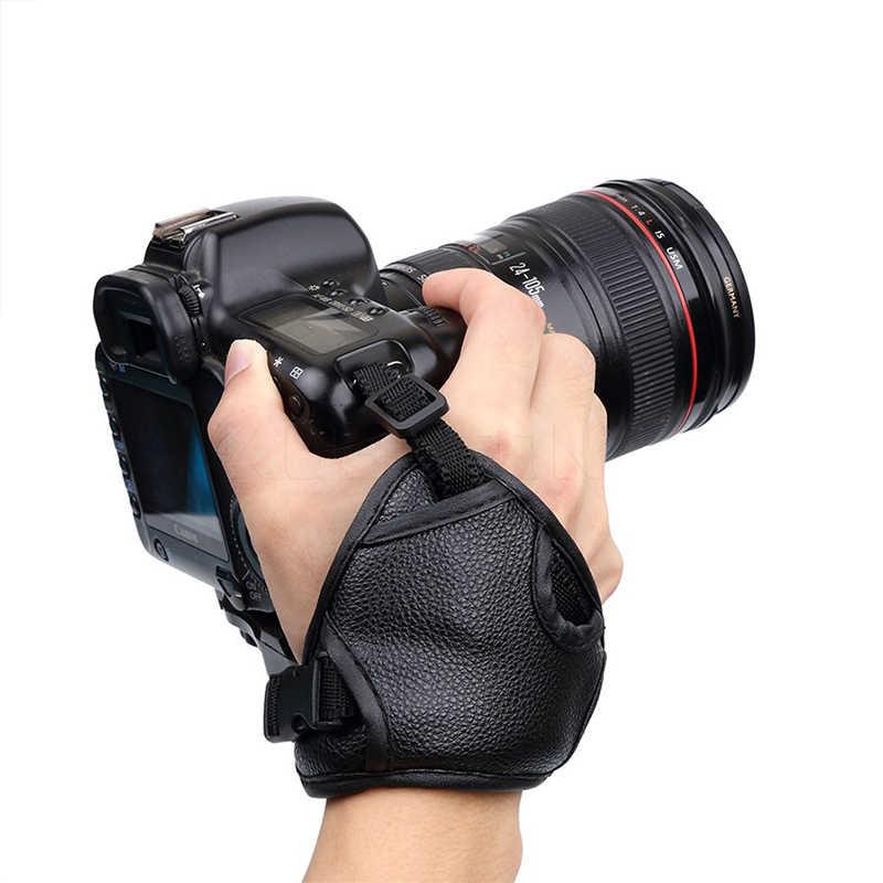 Baru Dlsr/SLR Kamera Tali Pergelangan Tangan Lembut PU Tali Kamera untuk Canon Nikon Sony Leica