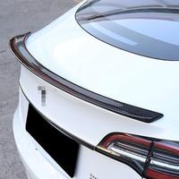 Car Tail Spoiler Trim Strip Rear Wing Sticker Carbon Fiber Cover Modified Exterior Decoration for Tesla Model 3 Accessories