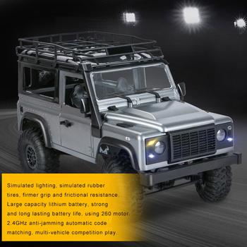 1/12 4WD Crawler RC Car Off-Road Vehicle Buggy 2.4G Remote Control Toy Model with Lights TSH Shop