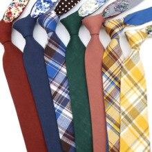 Tie Gift Groom Wedding-Party Striped Necktie Floral Pink Blue Green Cotton Men's 7cm