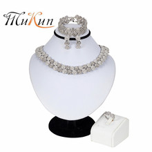 Dubai Silver Plated Jewelry Sets Nigerian Wedding Women Accessories Jewelry Set Fashion African Beads Necklace Earrings Set цены