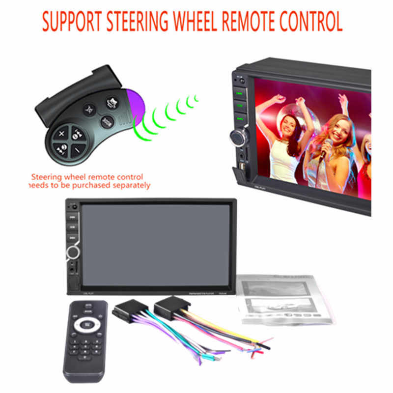 "2 Din Auto Radio 7 ""Hd Car Audio Speler Touch Screen Auto Audio Auto Stereo Auto MP5 Speler Bluetooth usb Tf Fm Achteruitrijcamera"