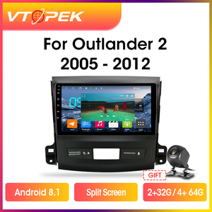 Vtopek Android 9.0 Car Radio Multimidia Player Navigation GPS Auto Stereo For Mitsubishi Outlander Xl 2 2005-2012 Head Unit 2din(China)