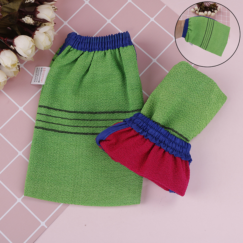 1pcs New Korea Shower Spa Exfoliator Two-sided Bath Glove Body Cleaning Scrub Mitt Rub Dead Skin Removal