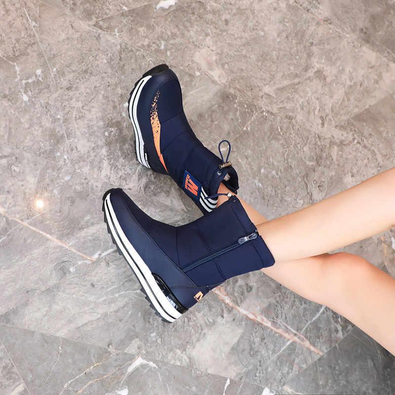 FEDONAS kış yeni sıcak rahat kadın Flats platformu kar botları fermuar kadın yarım çizmeler rahat ofis temel ayakkabı kadın