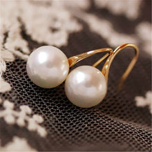 Fashion Statement Earrings Grandmother Woman Girl Wedding Party Large Pearl Drop Hoop Earrings Hanging Dangle Earring Brincos(China)