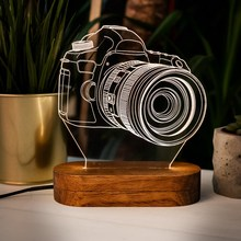 Новинка 3D дизайн Камера светодиодный Ночной светильник Настольная лампа детские игрушки Рождественский подарок, домашний декор