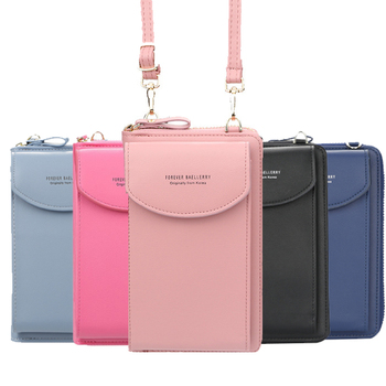 wallet women Diagonal PU multifunctional mobile phone clutch bag Ladies purse large capacity travel card holder passport cover 1