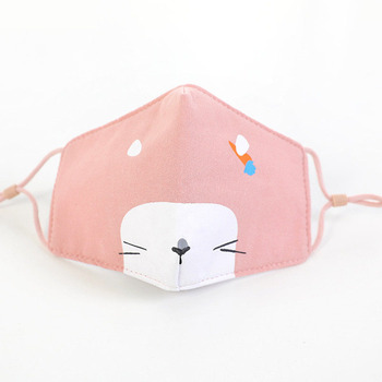 Kids Face Mask Baby Children Mask Washable Cotton Cloth Kids Face Mask Cute Animal Protective Mouth Masks Adjustable With Strap 3