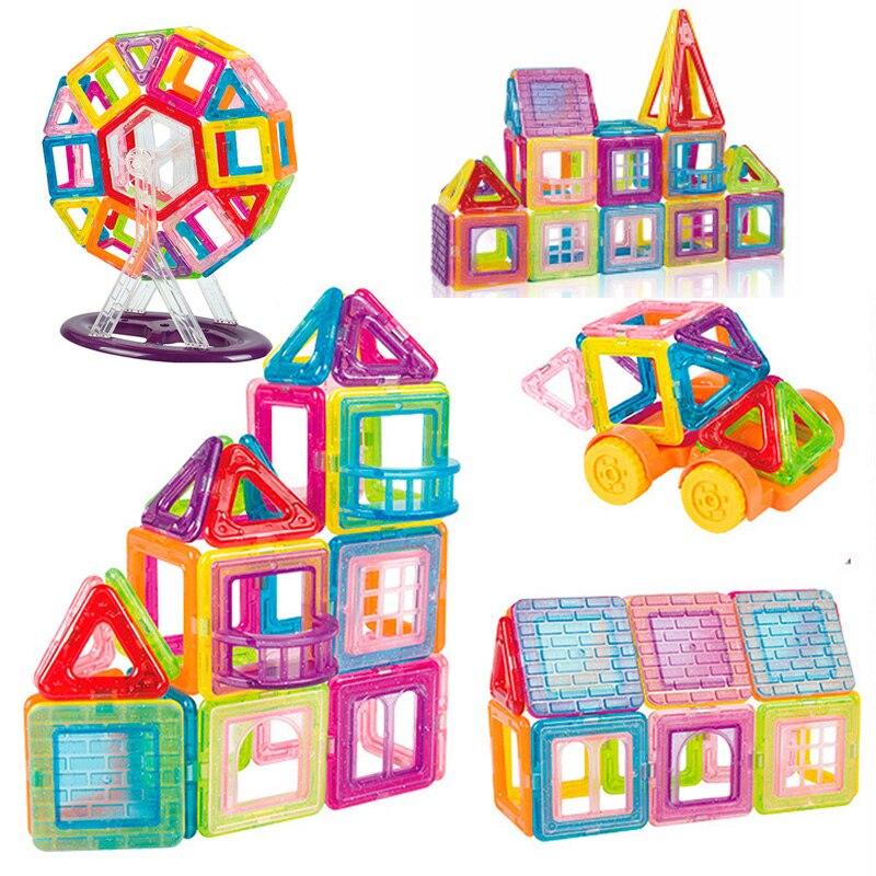 42-184pcs Mini Magnetic Blocks Magnet Constructor Designer Models & Building Toys Magnetic Toys For Children Gifts