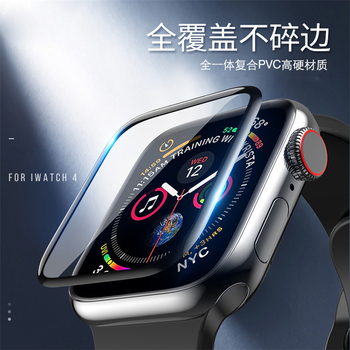 Full Tempered Glass Film For Apple Watch 4 44mm 40mm Screen Protector iwatch series 4/3/2/1 3D curved surface Anti-Shock 3d curved full cover tempered glass film for apple watch 40mm band flim screen protector for iwatch series 4