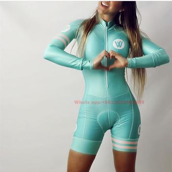 Vvsportsdesigns mulheres ciclismo skinsuit manga longa speedsuit triathlon terno bicicleta macacão ropa de ciclismo mtb ciclo roupas 1
