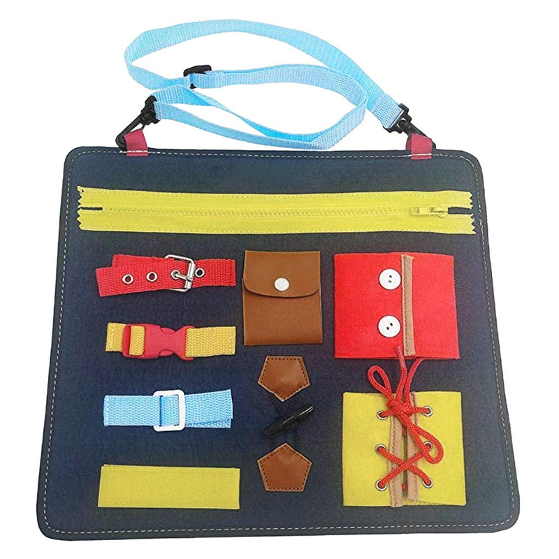 Dress learning education Learning Board Wardrobe Teaching Bag Baby 1-5 Years Old Educational Toys #4D31