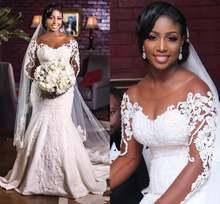 Винтажные Африканские свадебные платья русалки 2021 vestido