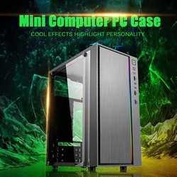 Мини-чехол для компьютера, чехол с вентиляцией на всю сторону, охлаждающий светильник, 1 вентилятор, положение сбоку, через панель, USB3.0, чехол...