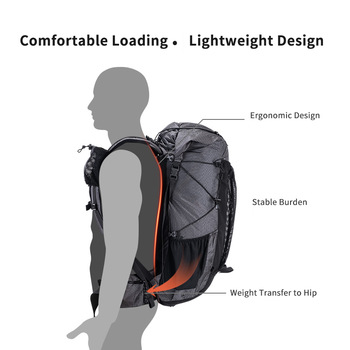 Naturehike 60L+5L backpack Hiking Climbing Backpacking 1160g Rain Cover 3