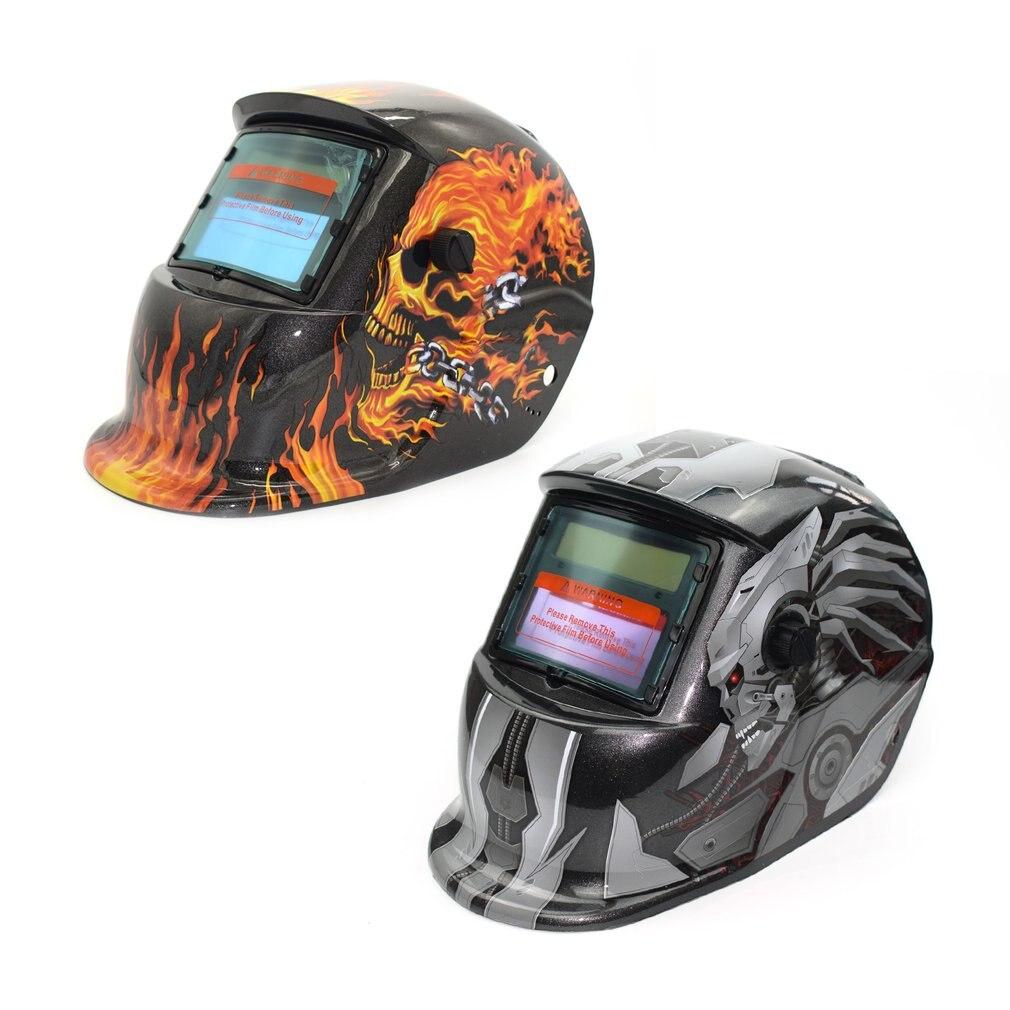 Zasilane energią słoneczną automatyczne przyciemnianie TIG MIG MMA elektryczna maska spawalnicza kask czapka spawacza obiektyw do spawarki palnik plazmowy
