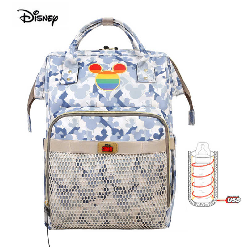 2019 nouveau Disney marque maman sac mode femme maternelle couche-culotte sac à bandoulière multi-fonction bébé sac à dos pour maman couches sac