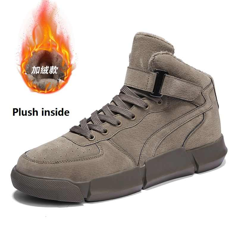 Mannen Casual Schoenen 2019 Winter Designer Schoenen Houden Warme Laarzen Heren Bont Hoge Top Sneakers Hip Hop Mannelijke Volwassenen Merk walker Piek