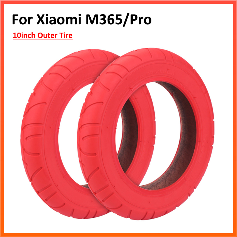 10 Inch Outer Tube Tire for Xiaomi M365 Electric Scooter Balance Cantilever Type Automatic Intelligent Balance Red Color Tires