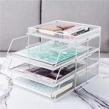Офисная стойка для файлов, многослойный органайзер для документов, корзина для хранения, аксессуары для стола, офисные принадлежности