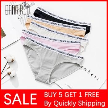 BANNIROU Underwear For Woman Panties Soft Briefs Fashion Sports Cotton Buy 5 Get 1 Free 2020