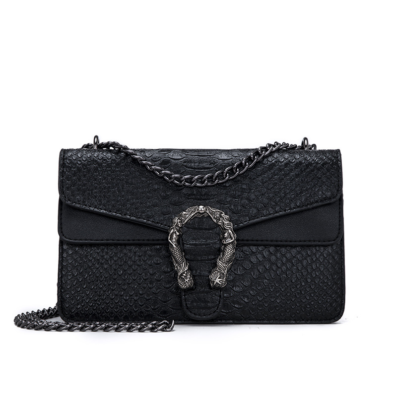 Snake Fashion Brand Women Bag Alligator PU Leather Messenger Bag Designer Chain Shoulder Crossbody Bag Women Handbag|Shoulder Bags| - AliExpress