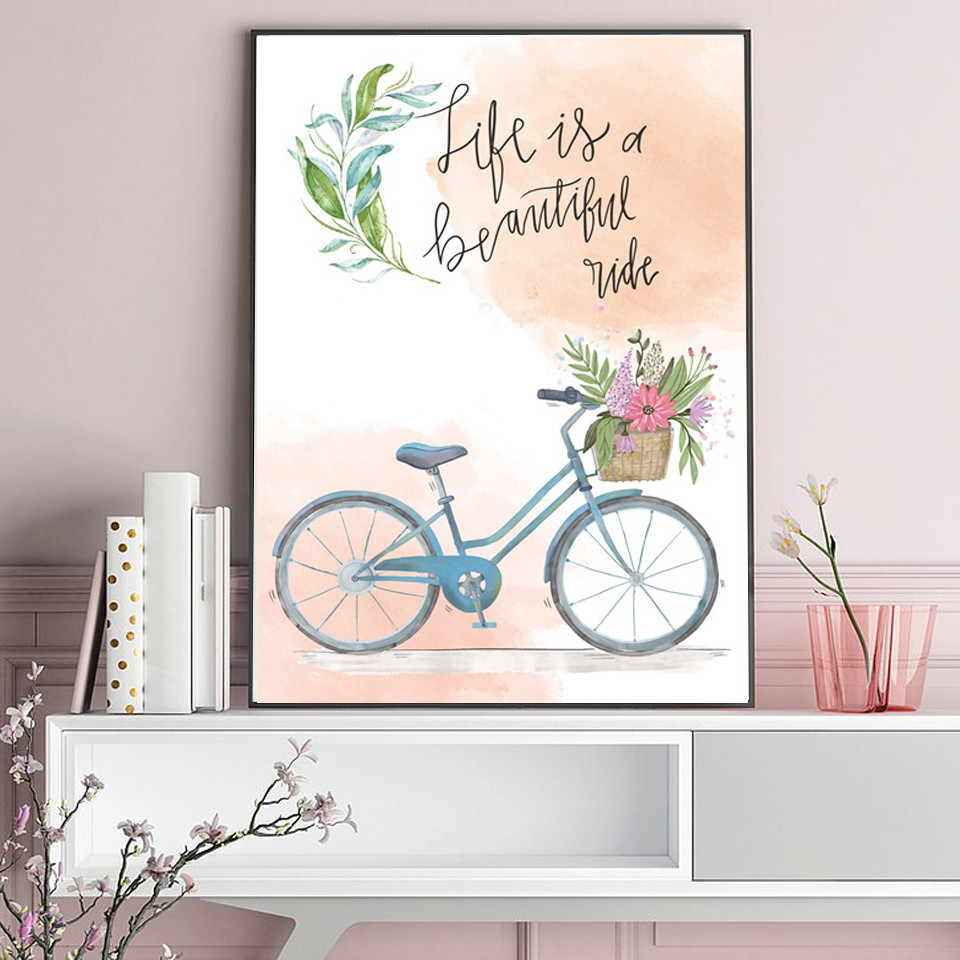 Letters-and-Bicycle-Home-Decoration-Canvas-Painting-Bedroom-Living-Room-Posters-Hd-Printing-Pictures-with-Waterproof (2)