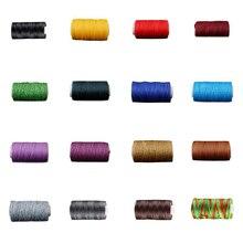 50 м прочные 1 мм 150D Вощеная моток веревки для DIY инструмент для рукоделия ручная вышивка плоские Вощеные Отстроченный шов кожаные швейные нитки