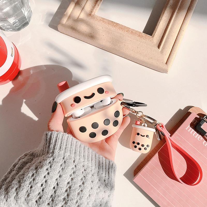 Boba Bubble Tea Keychain AirPod Case  2