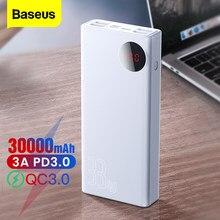 Baseus 30000mAh Power Bank USB Type C PD Powerbank Portable 30000 mAh External Battery Fast Charger For iPhone 12 Pro Max Xiaomi