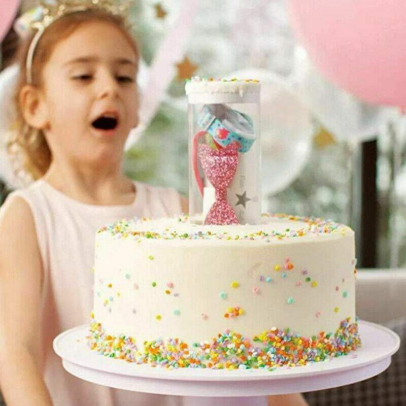 2020 2 In1 Titolare Torta Sorpresa Del Basamento Musicale Popping Del Basamento Della Torta di Buon Compleanno Torta di Compleanno Del Basamento Trigger Titolare Torta