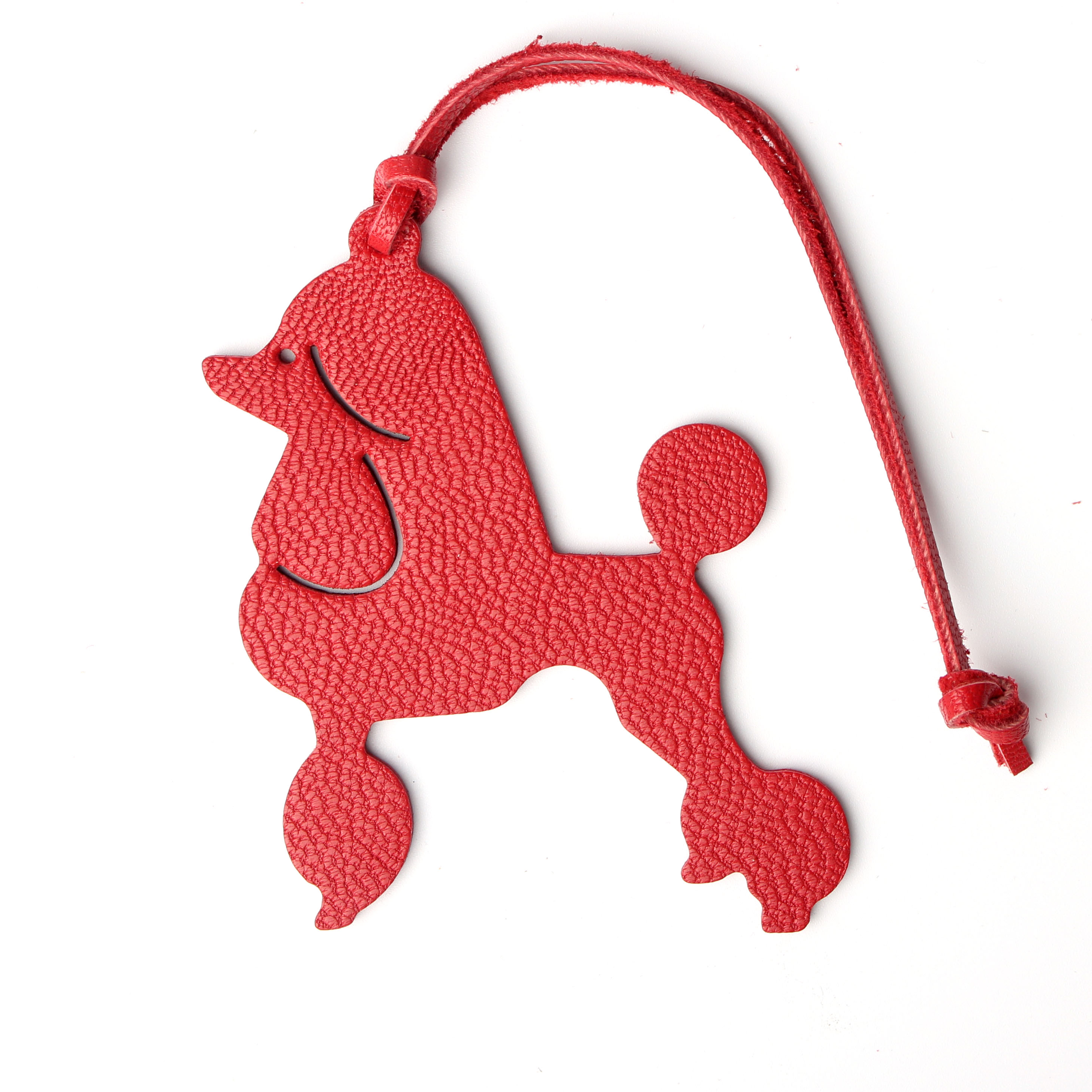 Famous Brand Custom Made Natural Genuine Leather Deer Dog Keychain Pendant Key Chain For Ladies Women Bag Charm Accessories