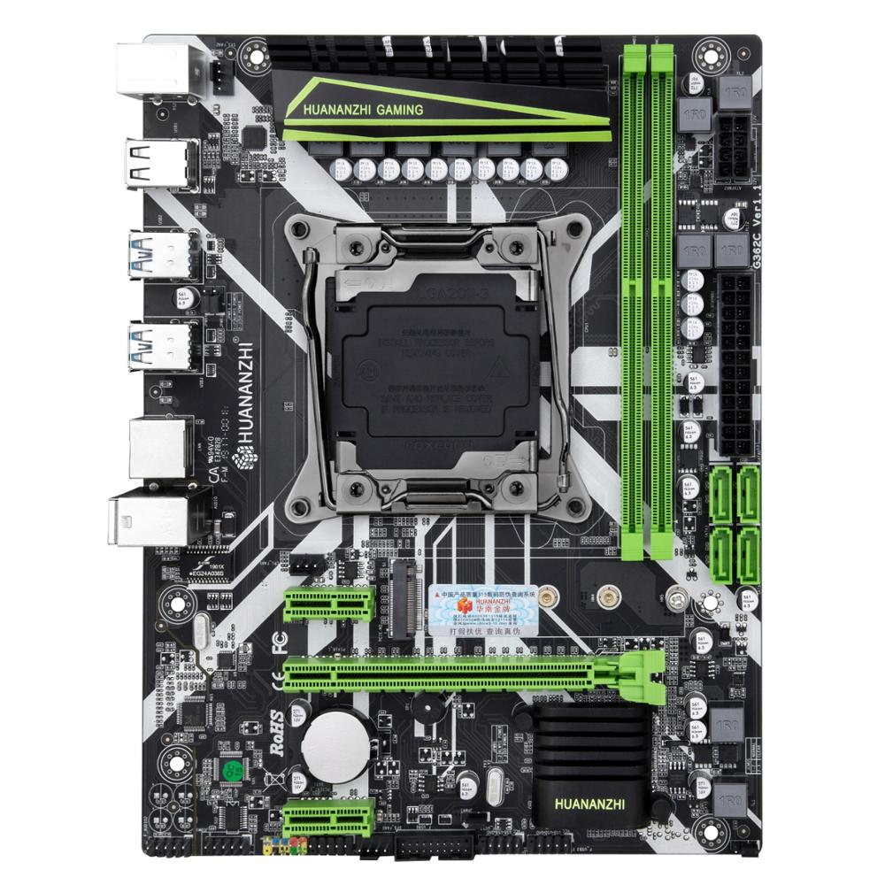 HUANANZHI X99 LGA2011-3 motherboard bundle discount motherboard with M.2 NVMe slot CPU Xeon E5 2680 V3 RAM 32G(2*16G) DDR4 2400 2