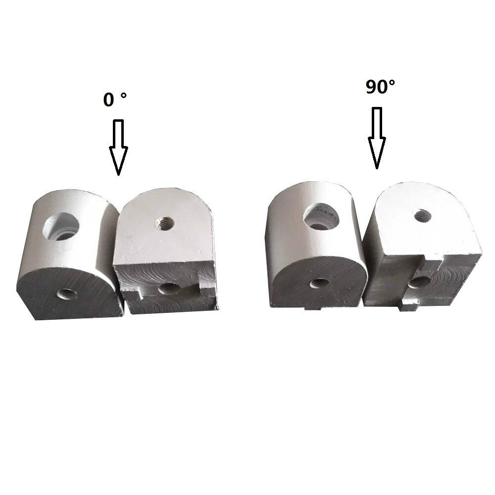 Ev Dekorasyonu'ten Köşe Braketleri'de Sağ açı oturma Nub konektörü 1 adet 3030/4040 0/90 derece köşe dirseği bağlantı ortak alüminyum profil için title=