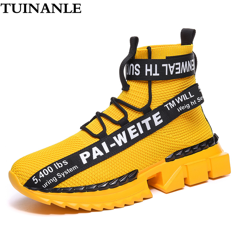 Sneakers Women Shoes 2020 Fashion Lover Plus Size 46 Light Casual Shoes White Run Sneakers Breathable Walking Men Shoes Yellow 1