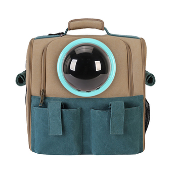 New Travel Carrying Cat Bag Foldable Small Dog Backpack Transparent Ball Pet Space Capsule Portable Kitten Puppy Carrier Bag