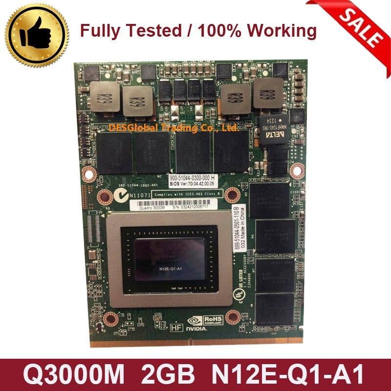 NVidia Quadro 3000M Q3000M 2GB GDDR5 MXM B 3.0 Video Graphics Card N12E-Q1-A1