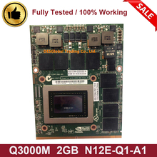 Оригинальная графическая видеокарта Quadro 3000M Q3000M VGA 2GB для Dell Precision M6600 M6700 M6800 hp 8760W 8770W 8740W N12E-Q1-A1