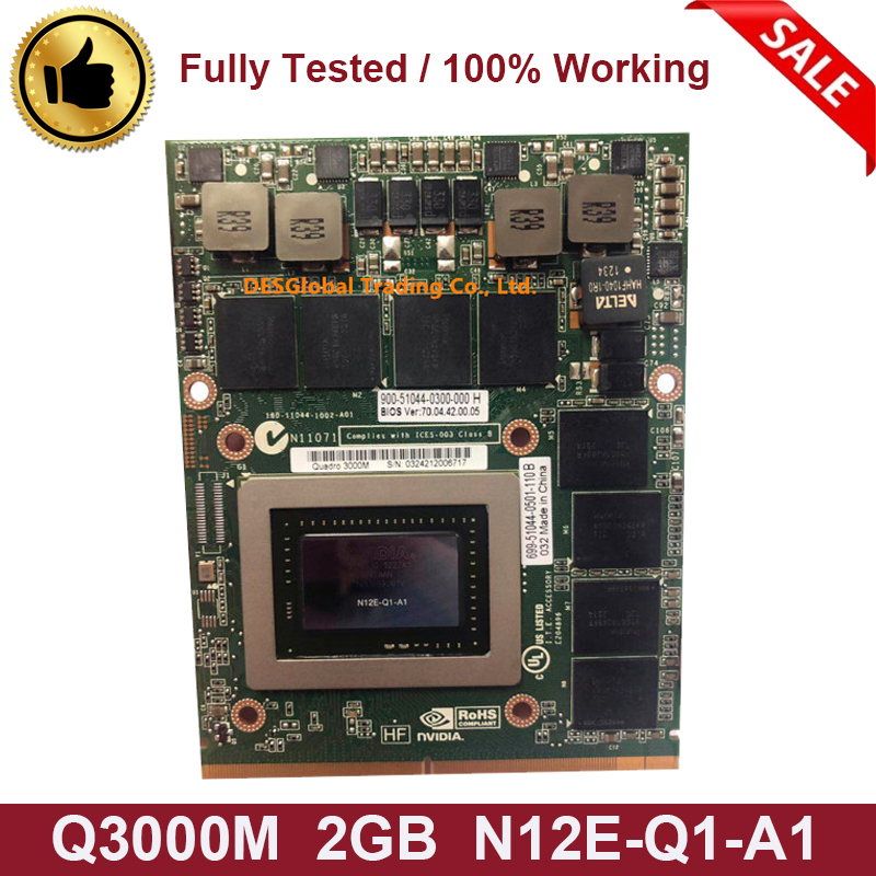 Original Quadro 3000M Q3000M VGA Graphics Video Card 2GB For Dell Precision M6600 M6700 M6800 HP 8760W 8770W 8740W N12E-Q1-A1