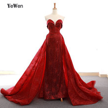 Sleeveless Evening Dress Long 2020 Mermaid Sequin Burgundy Prom Party Gowns Robe De Soiree Lace Up Formal Women Gown YeWen