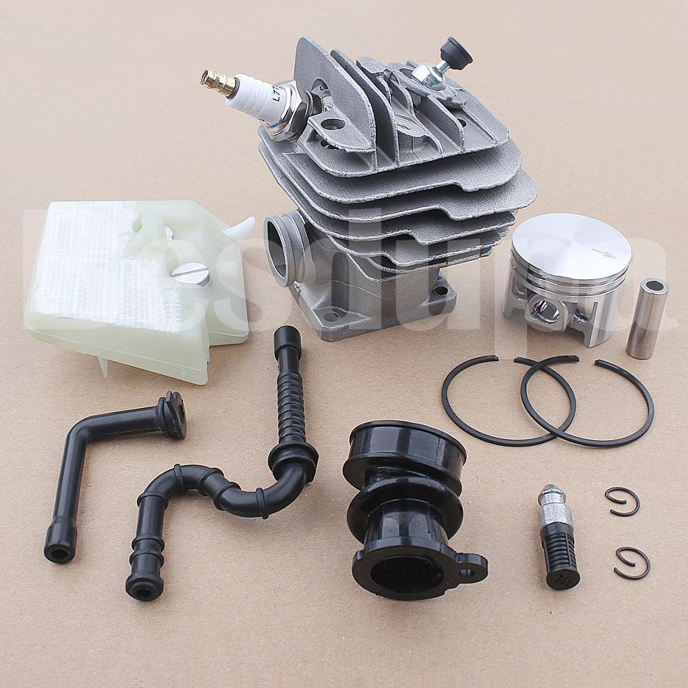 Tools : 44mm Cyliner Piston Air Oil Filter Kit For Stihl 026 MS260 Chainsaw 11210201217 w Intake Manifold Spark Plug