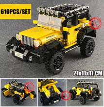 New MOC Off-road Adventure Fit Legoings Technic Jeep Car Truck Set Building Blocks Bricks Diy Toys for Children Kids Gift lepin 23003 3643pcs technic moc rc jeep wild off road vehicles set educational building blocks brick toy for children model gift