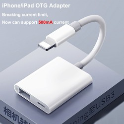 Needn't APP IOS13 OTG adapter For iPhone 11 XR X XS Max 8/7 Lighting to USB 500mA Support U Disk / keyboard   / Digital Camera