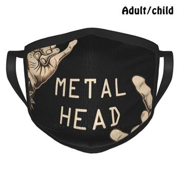 Metalhead Art Mask , T-Shirt , Poster !! Custom Design Face Mask For Adult Kids Anti Dust Metalhead Music Death Metal Music image